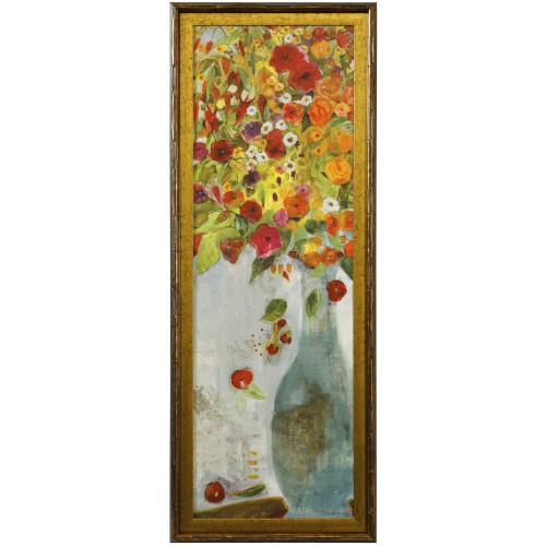 Style Craft - EXUBERANCE I  39in X 15in  Made in the USA  Textured Framed Print