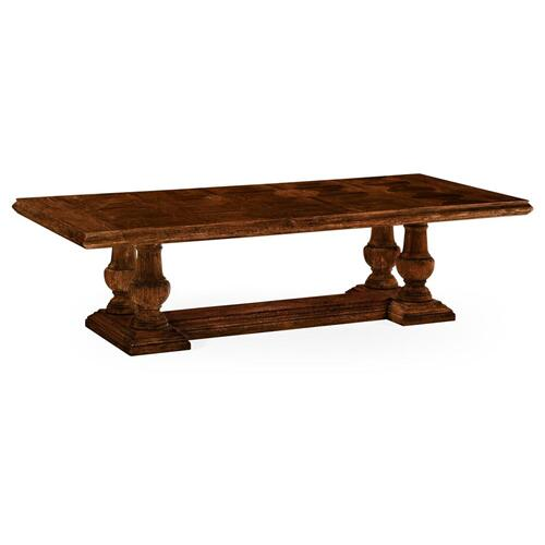 Rustic walnut dining table