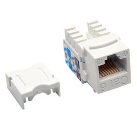 Cat6/Cat5e 110 Style Punch Down Keystone Jack - White, TAA