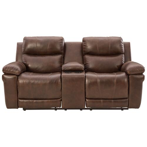 Signature Design By Ashley - Edmar Power Reclining Loveseat With Console
