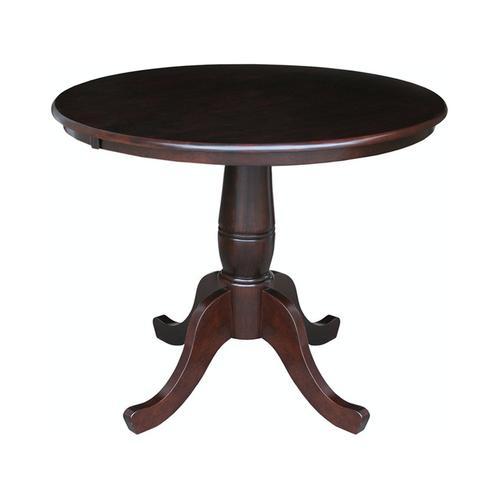 """36"""" Pedestal Table in Rich Mocha"""