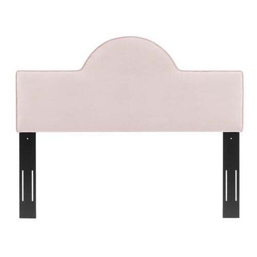 Dawn Twin Performance Velvet Headboard in Pink