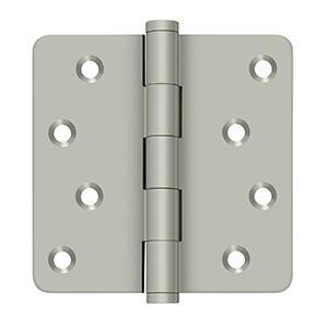 """4"""" x 4"""" x 1/4"""" Radius Hinges / Zig-Zag - Brushed Nickel"""