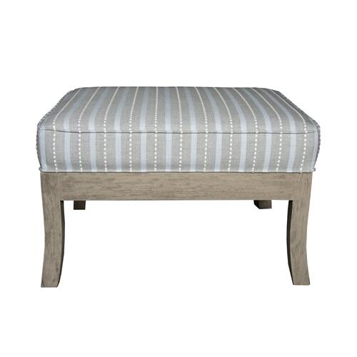 Ottoman, Available in Distressed White or Distressed Grey Finish.