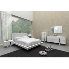 Modrest Voco - Modern White Leatherette Bed