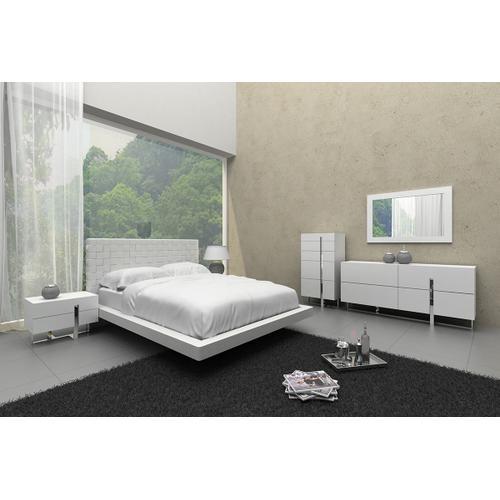 Modrest Voco - Modern White Leatherette Bed