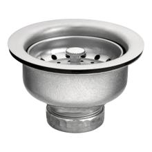 Moen Satin Stainless Steel Basket Strainer with Drain Assembly 3-1/2""