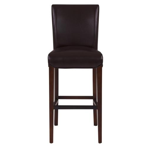 Milton Bonded Leather Bar Stool, Coffee Bean