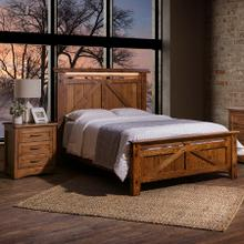 View Product - Amish Made Farmstead Queen Bed with LED Lighting