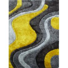 Designer Shag S.V.D. 29 Area Rug by Rug Factory Plus - 5' x 7' / Yellow