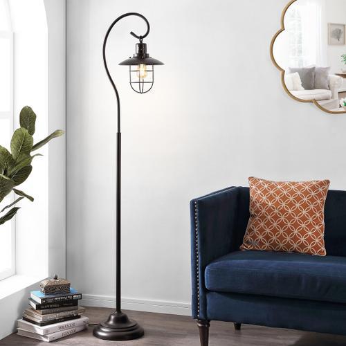 Archie Iron Floor Lamp - Black