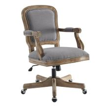 Upholstered Office Chair, Rustic Brown
