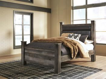 Signature Design By Ashley - Wynnlow Queen Upholstered Poster Headboard