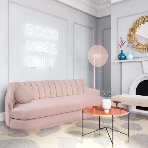 """Tov Furniture - Potter 20"""" Blush Velvet Pillow"""