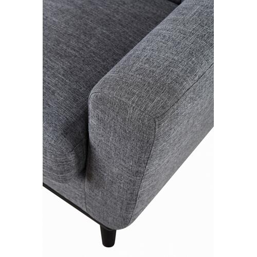 Divani Casa Corsair Modern Grey Fabric Sofa Set