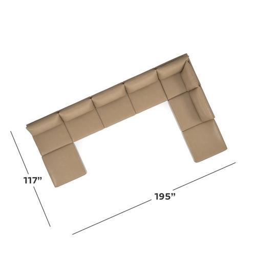 Bassett Furniture - Beckham Leather U-Shaped Sectional