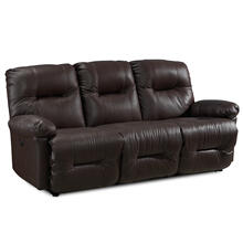 Zaynah Power Reclining Leather Sofa (Walnut)