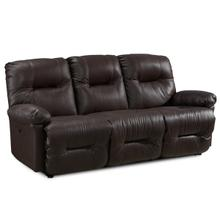 Zaynah Reclining Leather Sofa (Walnut)