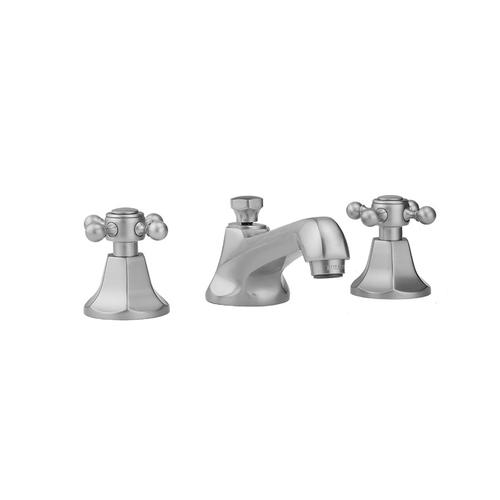 Jaclo - Polished Brass - Astor Faucet with Ball Cross Handles & Fully Polished & Plated Pop-Up Drain