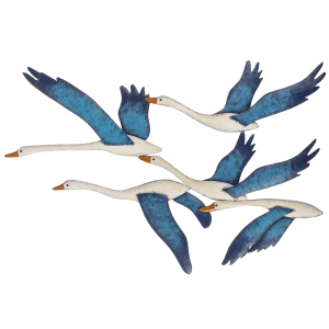 Layered Shorebird Wall Decor