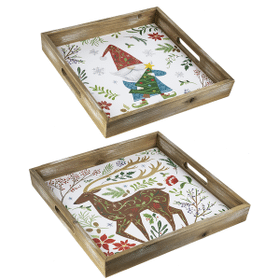 Folkloric Christmas Serving Trays (2 pc. ppk.)