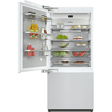 KF 2912 Vi - MasterCool™ fridge-freezer with high-quality features and maximum storage space for exacting demands.