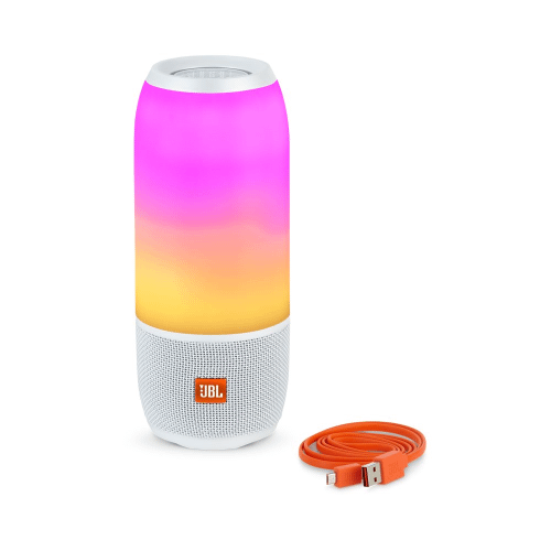 Pulse 3 Waterproof portable Bluetooth speaker with 360° lightshow and sound.