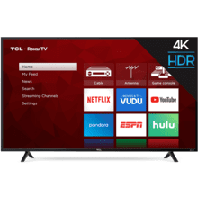 "TCL 55"" Class 4-Series 4K UHD HDR Roku Smart TV- 55S401"