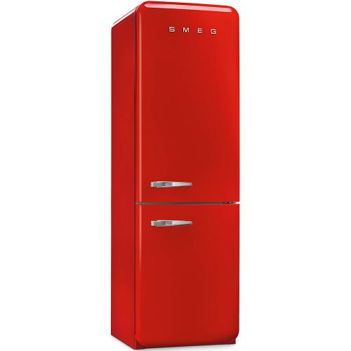 """Approx 24"""" 50'S Style refrigerator with automatic freezer, Red, Right hand hinge"""