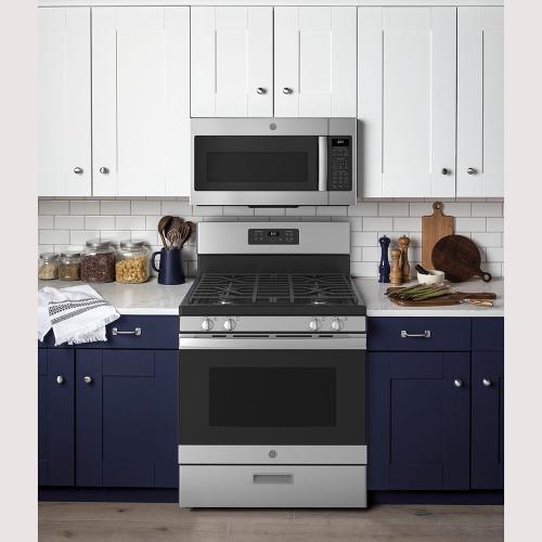 "Gallery - GE® 30"" Free-Standing Gas Range Stainless Steel - JCGBS61RPSS"