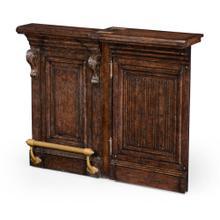 See Details - Hinged Door Panel for Linenfold Tudor Oak Home Bar