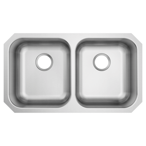 2000 Series 31.75 x 18.25 stainless steel 20 gauge double bowl sink