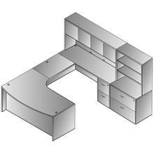 Napa Left U W/corner + Storage 107x107