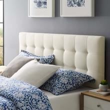 View Product - Lily King Upholstered Fabric Headboard in Ivory