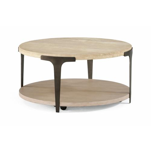 Flexsteel - Omni Round Coffee Table with Casters