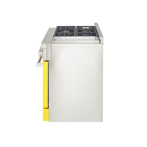 KitchenAid Canada - KitchenAid® 48'' Smart Commercial-Style Gas Range with Griddle - Yellow Pepper