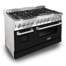 ZLINE 48 in. Professional Dual Fuel Range with Black Matte Door (RA-BLM-48)