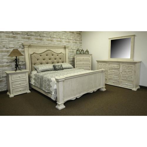 Terra White King Bed