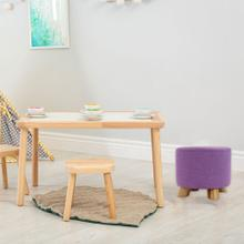 Critter Sitters 10-Inch Purple Upholstered Mini Foot Stool with Wooden Legs, CSFTSTL-PUR