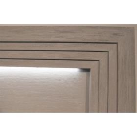 Cascade - Full/queen Illuminated Panel Headboard - Dovetail Finish