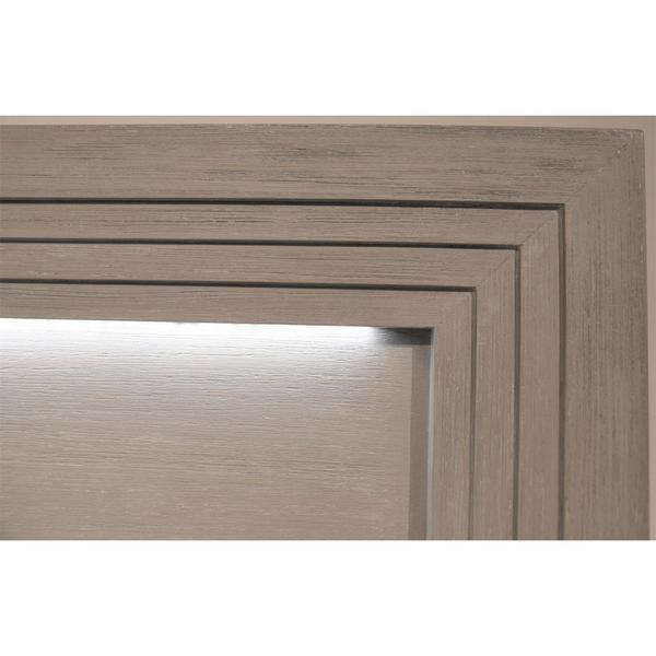 Cascade - Full/queen Illuminated Panel Headboard - Dovetail Finish