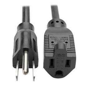 Power Extension Cord, NEMA 5-15P to NEMA 5-15R - 10A, 120V, 18 AWG, 15 ft., Black