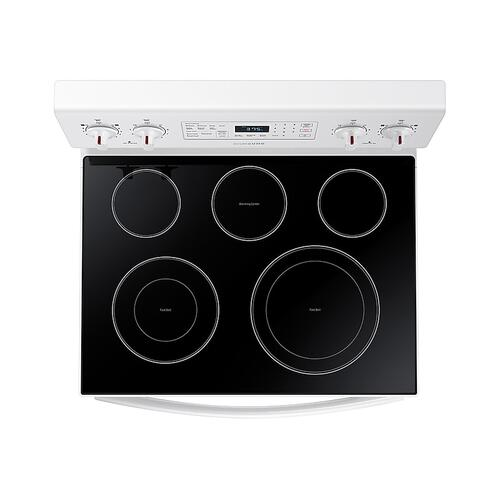 5.9 cu. ft. Freestanding Electric Range with Convection in White