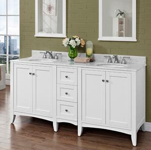"Shaker Americana 72"" Modular Vanity - Polar White Product Image"