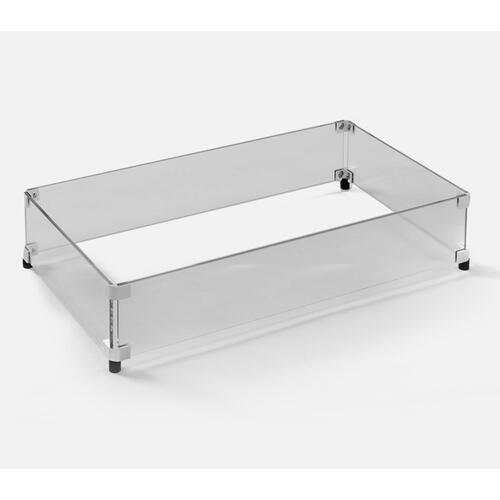 "28.3"" x 15.5"" Rectangular Glass Guard for Any Applicable Homecrest Fire Table"