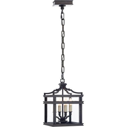 Visual Comfort CHC2190AI E. F. Chapman Mykonos 4 Light 9 inch Aged Iron Foyer Pendant Ceiling Light