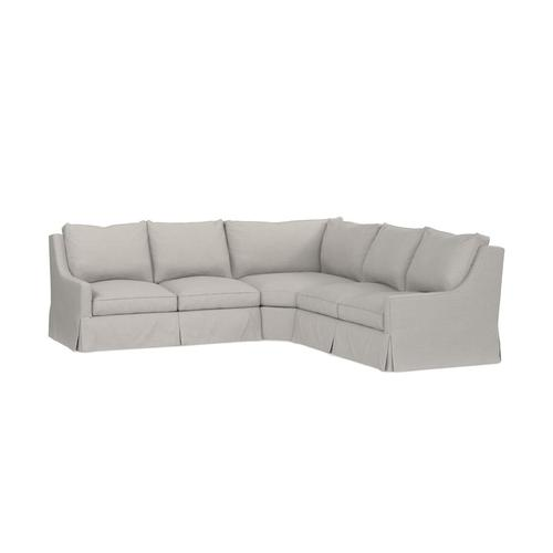Exeter Custom Sectional, Arm Style Track