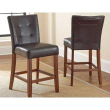 "Montibello CounterParsons Chair Dark Brown, 19"" x 25"" x 40"""