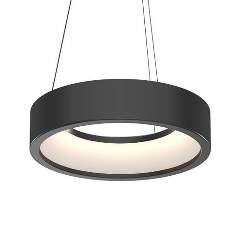 "Sonneman - A Way of Light - Tromme LED Pendant [Size=18"" Short, Color/Finish=Satin Black]"