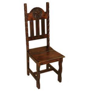Dark Rope Wood Seat Star Chair